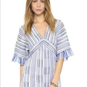 NWT Tory Burch Gwen fringe tunic size med